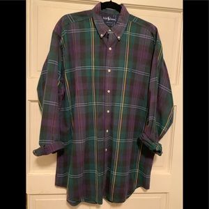 Ralph Lauren button up long sleeve striped shirt L
